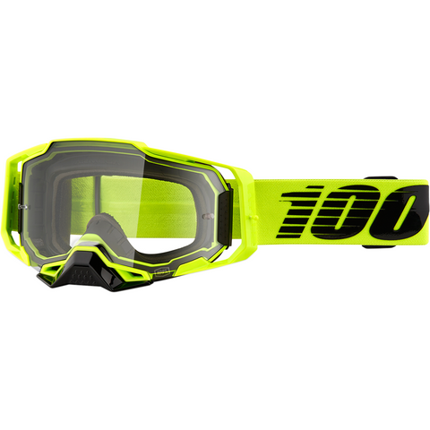 100% Armega Goggles - Nuclear Citrus - Clear 50700-356-02 - Trailhead Powersports a Mines and Meadows, LLC Company
