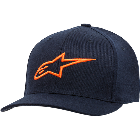 ALPINESTARS (CASUALS) Ageless Hat- Curved Bill - Navy/Orange