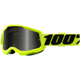 100% Strata 2 Sand Goggles - Yellow - Smoke 50422-102-04 - Trailhead Powersports a Mines and Meadows, LLC Company