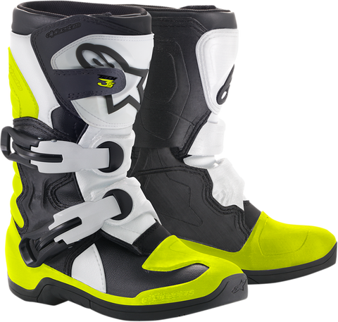 ALPINESTARS(MX) Youth Tech 3S Boots - Black/White/Yellow - US 10 2014518-125-10