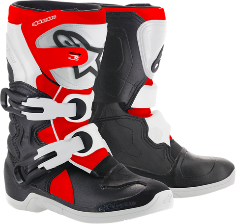 ALPINESTARS(MX) Youth Tech 3S Boots - Black/White/Red - US 10 2014518-1231-10