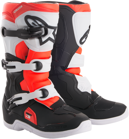 ALPINESTARS(MX) Tech 3S Boots - Black/White/Red - US 2 2014018-1231-2