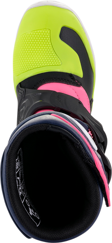 ALPINESTARS(MX) Youth Tech 3S Boots - Black/Blue/Pink - US 10 2014518-1176-10