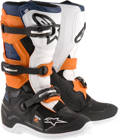 ALPINESTARS(MX) Tech 7S Boots - Black/Orange/Blue - US 2 2015-1427-2