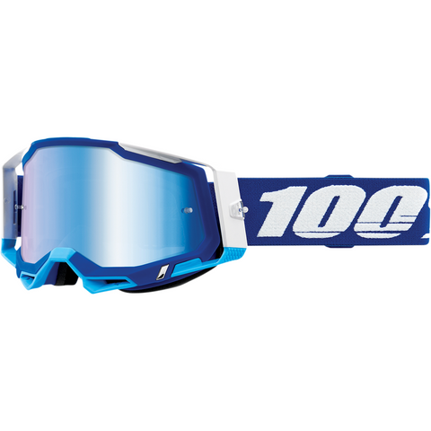 100% Racecraft 2 Goggles - Blue - Blue Mirror 50121-250-02 - Trailhead Powersports a Mines and Meadows, LLC Company