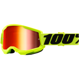 100% Strata 2 Goggles - Yellow - Red Mirror 50421-251-04 - Trailhead Powersports a Mines and Meadows, LLC Company