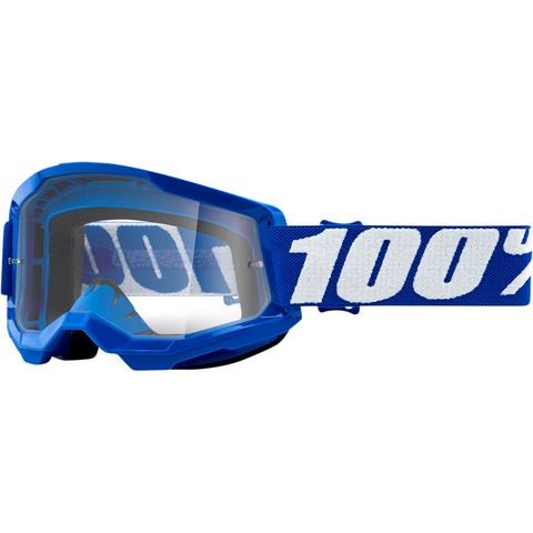 100% Strata 2 Goggles - Blue - Clear 50421-101-02 - Trailhead Powersports a Mines and Meadows, LLC Company