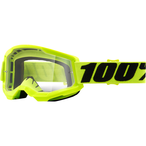 100% Strata 2 Goggles - Yellow - Clear 50421-101-04 - Trailhead Powersports a Mines and Meadows, LLC Company