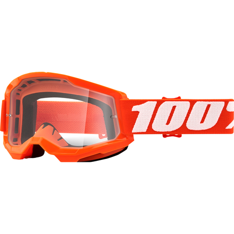 100% Strata 2 Goggles - Orange - Clear 50421-101-05 - Trailhead Powersports a Mines and Meadows, LLC Company