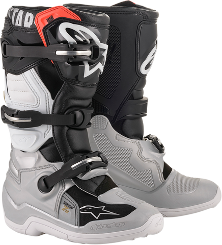 ALPINESTARS(MX) Tech 7S Boot - Black/Silver/White/Gold - US 2 2015017-1829-2