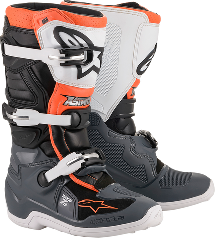 ALPINESTARS(MX) Tech 7S Boot - Black/Gray/White/Orange Fluorescent - US 2 2015017-1124-2