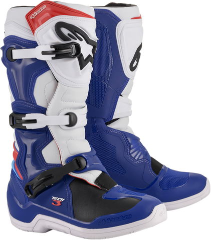 ALPINESTARS(MX) Tech 3 Boots - Blue/White/Red - US 7 2013018-723-7