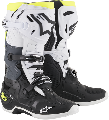ALPINESTARS(MX) Tech 10 Boots - Black/White/Yellow - US 7 2010019-125-7