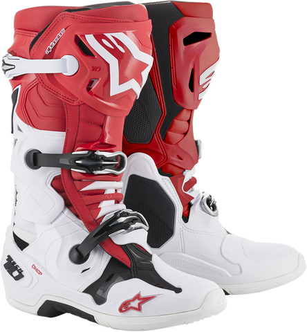 ALPINESTARS(MX) Tech 10 Boots - Red/White/Black - US 7 2010019-321-7