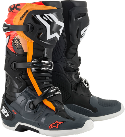 ALPINESTARS(MX) Tech 10 Boots - Black/Gray/Orange - US 7 2010019-1143-7