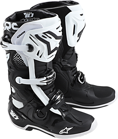 ALPINESTARS(MX) Tech 10 Boots - Black/White - US 7 2010020-12-7