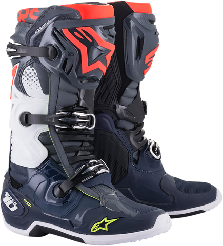 ALPINESTARS(MX) Tech 10 Boots - Gray/Blue/Red - US 7 2010020-9079-7