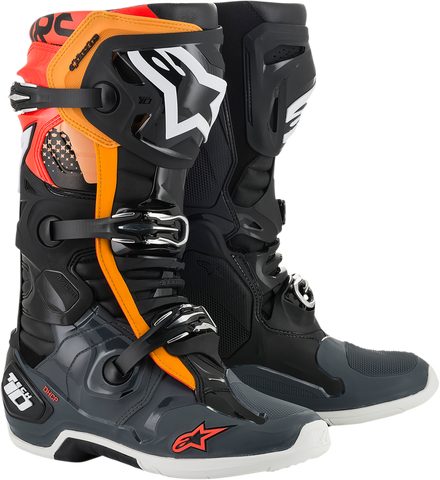 ALPINESTARS(MX) Tech 10 Boots - Black/Gray/Orange - US 7 2010020-1143-7