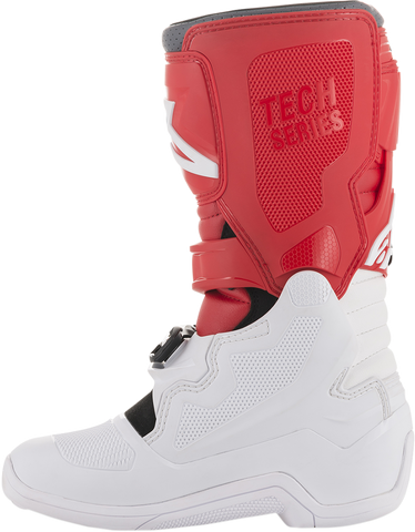 ALPINESTARS(MX) Tech 7S Boots - White/Red/Gray - US 4 20150172384