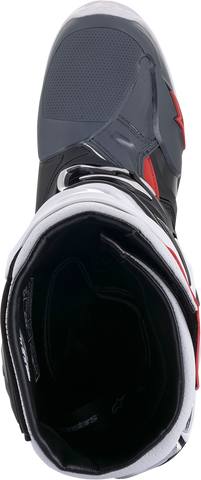 ALPINESTARS(MX) Tech 10 Supervented Boots - Black/White/Gray/Red - US 7 2010520-1213-7
