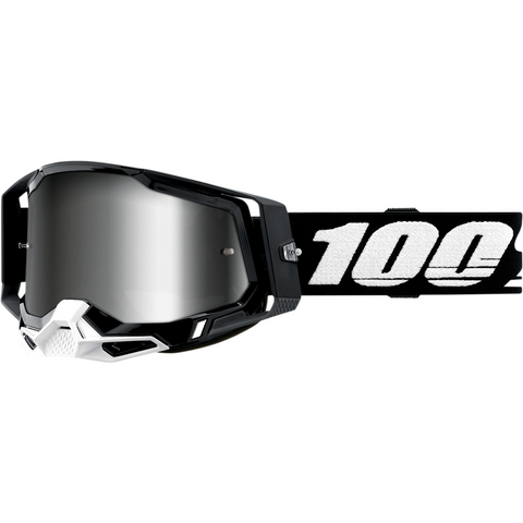 100% Racecraft 2 Goggles - Black - Silver Mirror 50121-252-01 - Trailhead Powersports a Mines and Meadows, LLC Company