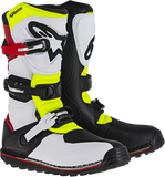 ALPINESTARS(MX) Tech-T Boots - White/Red/Yellow Fluorescent/Black