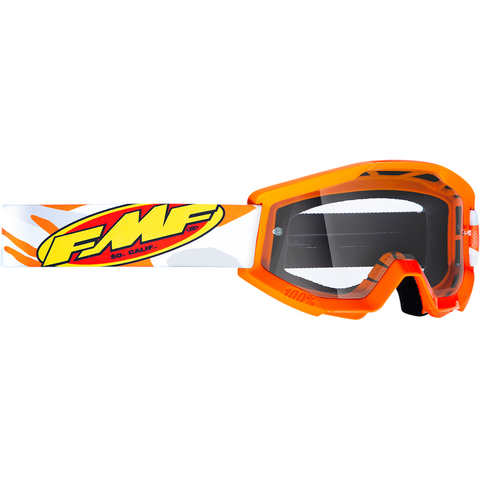 FMF VISION Youth PowerCore Goggles - Assault - Gray - Clear F-50500-101-09