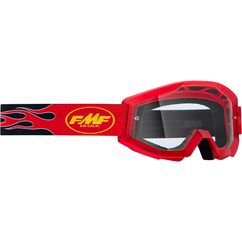 FMF VISION PowerCore Goggles - Flame - Red - Clear F-50400-101-03