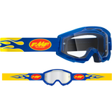 FMF VISION PowerCore Goggles - Flame - Navy - Clear F-50400-101-02