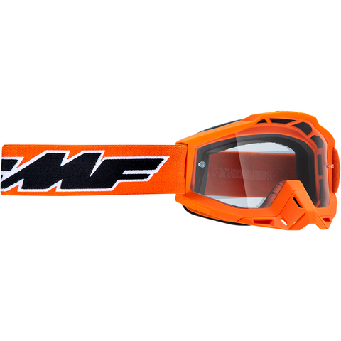 FMF VISION Youth PowerBomb Goggles - Rocket - Orange - Clear F-50300-101-05