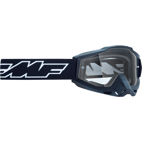 FMF VISION Youth PowerBomb Goggles - Rocket - Black - Clear F-50300-101-01
