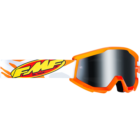 FMF VISION PowerCore Goggles - Assault - Gray - Silver Mirror F-50400-252-09