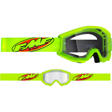 FMF VISION Youth PowerCore Goggles - Core - Yellow - Clear F-50500-101-04