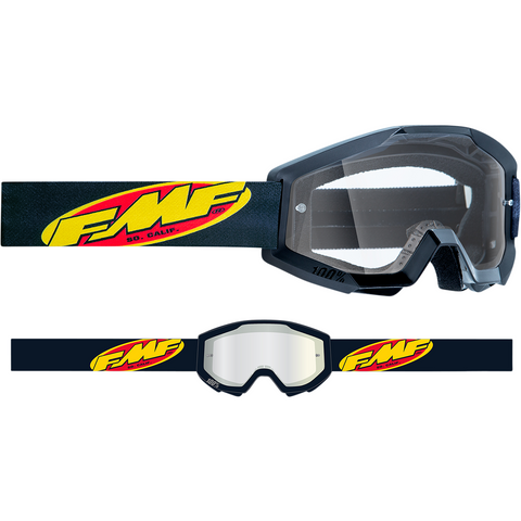 FMF VISION Youth PowerCore Goggles - Core - Black - Clear F-50500-101-01