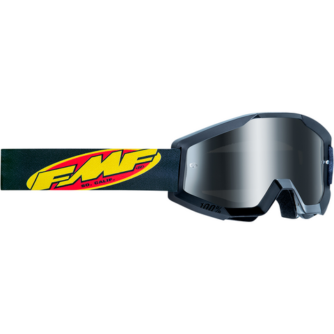 FMF VISION Youth PowerCore Goggles - Core - Black - Silver Mirror F-50500-252-01
