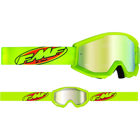 FMF VISION Youth PowerCore Goggles - Core - Yellow - Gold Mirror F-50500-259-04