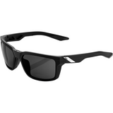 100% Daze Sunglasses - Black - Smoke 61030-100-57