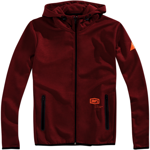 100% Viceroy Zip-Up Hoodie - Burgundy