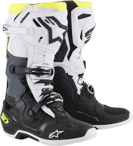 ALPINESTARS(MX) Tech 10 Boots - Black/White/Yellow - US 8 2010020-125-8