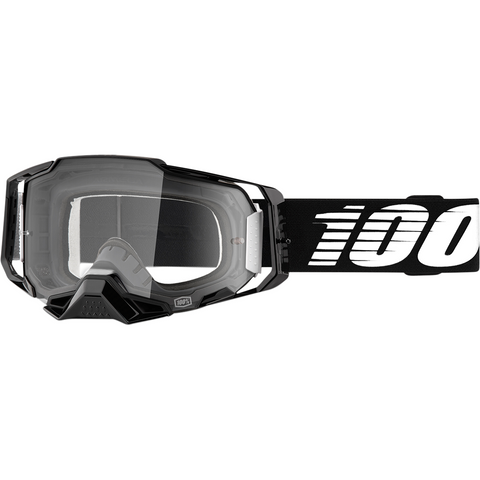 100% Armega Goggles - Black - Clear 50700-001-02 - Trailhead Powersports a Mines and Meadows, LLC Company