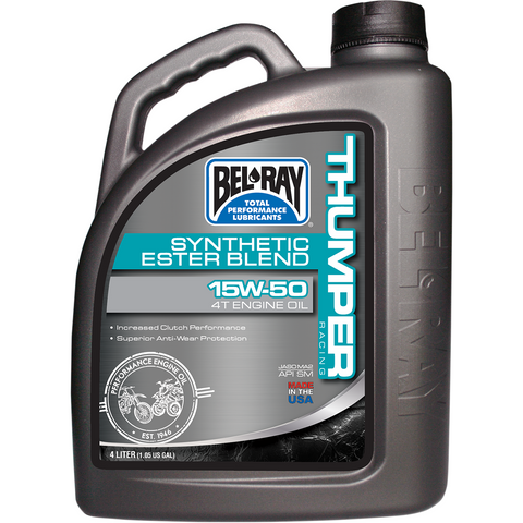 BEL-RAY Thumper Synthetic Blend 4T Oil - 15W-50 - 4 L 99530-B4LW