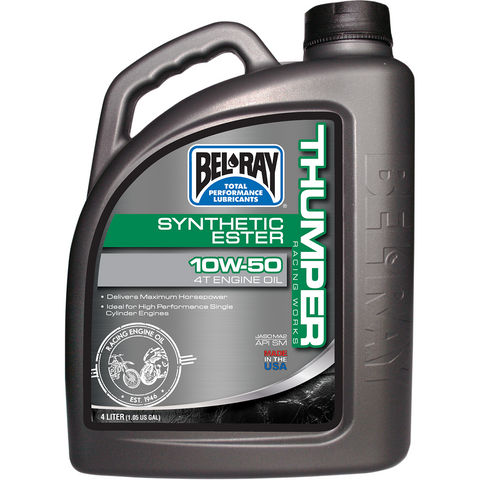 BEL-RAY Thumper Synthetic Oil  10W-50 - 4 L 99550-B4LW