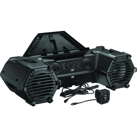 "BOSS AUDIO 8"" RACK MOUNT BLUETOOTH LED LIGHTBAR W/CONTROL - Trailhead Powersports a Mines and Meadows, LLC Company"