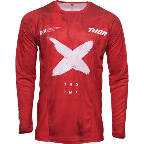 THOR Pulse HZRD Jersey - Red/White
