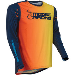 MOOSE RACING SOFT-GOODS Agroid Jersey - Navy/Orange