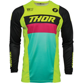 THOR Youth Pulse Racer Jersey - Acid/Black