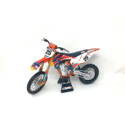 NEW-RAY REPLICA 1:10 RACE BIKE 17 KTM 450SX-F ORANGE(MUSQUIN)