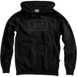 100% Syndicate Fleece Zip-Up Hoodie - Black