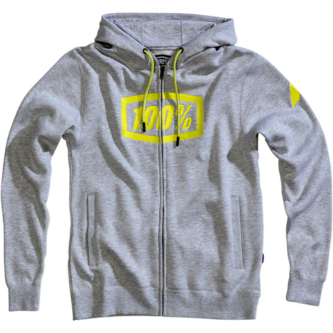 100% Syndicate Fleece Zip-Up Hoodie - Gray Heather