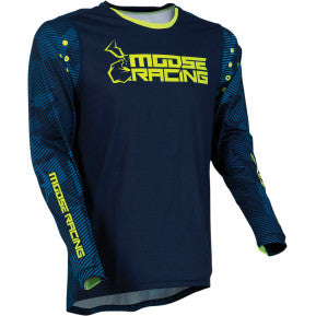 MOOSE RACING SOFT-GOODS Agroid Jersey - Navy/Hi-Viz